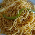 Spaghetti sans gluten à l'haitienne
