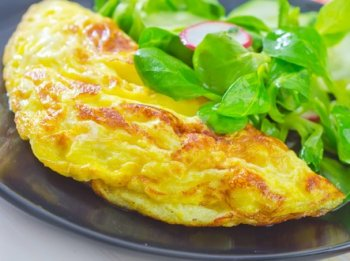 Omelette au fromage haitien